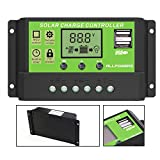 ALLPOWERS Intelligent Home 20A 12V/24V LCD Display Solar Charge Controller with USB Port …