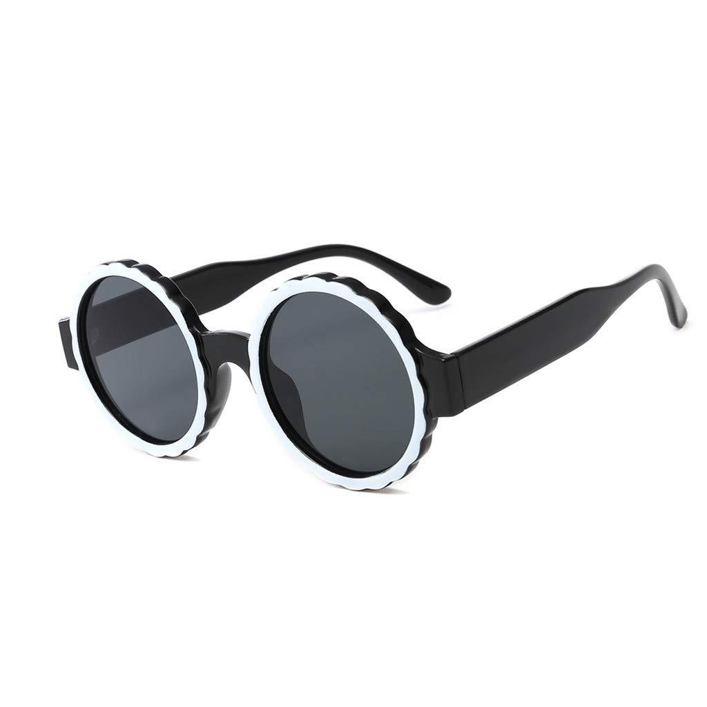 Stoota Men Womens Fashion Round Frame Mask Sunglasses,Integrated Gas Glasses