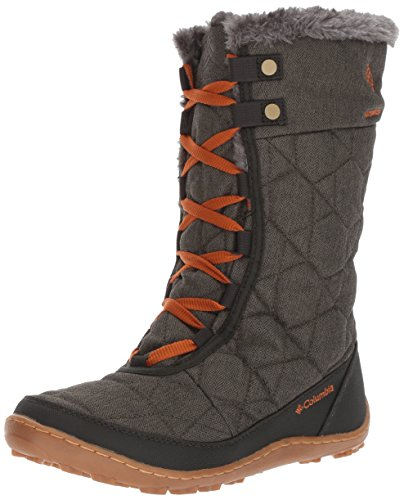 Columbia Women's Minx Mid Alta Omni-Heat Snow Boot, Nori, Bright Copper, 10 B US by Columbia