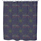 Uneekee Holy Days Blue Shower Curtain: Large Waterproof Luxurious Bathroom Design Woven Fabric