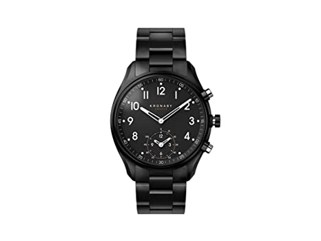 5defa7d06 Amazon.com: Kronaby Apex Quartz Watch, Black, 43mm, 10 atm, A1000 ...