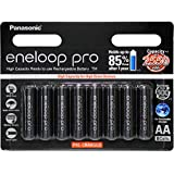 Panasonic Rechargeable AA Batteries 8 Pack pre-Charged Eneloop Pro Ni-MH, (BK-3HCCE/8BT)