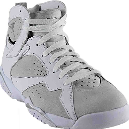 Nike Air Jordan Mens Retro 7 Basketball Sneakers White/Metallic Silver, 10.5 by Nike