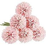 CQURE-Artificial-Flowers-Fake-Flowers-Silk-Artificial-Hydrangea-6-Heads-Bridal-Wedding-Bouquet-for-Home-Garden-Party-Wedding-Decoration-6Pcs-Light-Pink