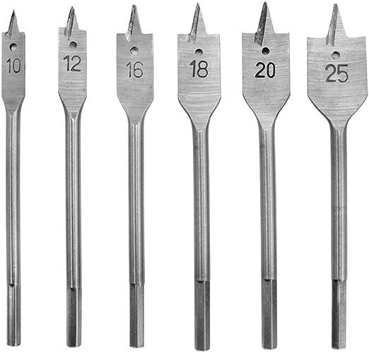 Bardland MGB-6 Lot de 6 forets /à bois plats pour perceuse /à bois /à t/ête plate
