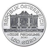 2020 AT Austrian Philharmonics Silver Coin 1 oz 999 Fine Silver 1.50 Euro Brilliant Uncirculated