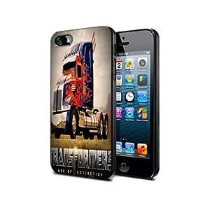 Case Cover TM05 Transformers Optimus Prime for Iphone 4 4s Border Rubber Silicone Case Black@pattayamart