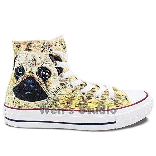 Wen Scarpe Di Design Dipinte A Mano Su Misura Scarpe Da Ginnastica Di Alta Qualità Unisex Per Cani