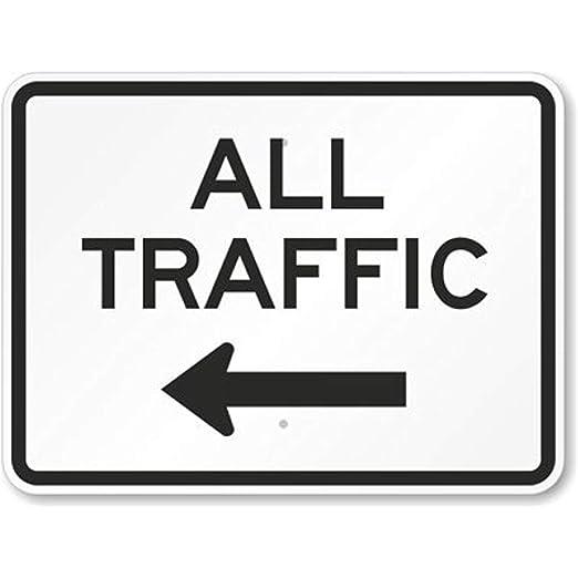 TedCoffey52 - Placa de Aluminio para señal de Todo tráfico ...