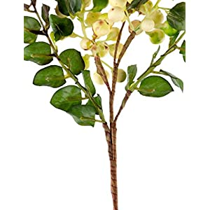 Rinlong Artificial Berries Hanging Spray Frosted for Flowers Arrangement Home Hotel Decor 2pcs per Pack (White) 4