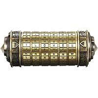 Decdeal Da Vinci Code minicryptex slot, metalen speelgoed, sieraden verstopplaats, huwelijksgeschenk, voor Valentijnsdag…