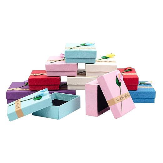 NBEADS Juego de 12 Cajas de Regalo de Colores Mezclados ...