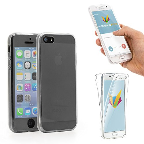 Mobilefox 360° Full Case Silikon Hülle Display-Schutz Cover Apple iPhone 5/S/SE