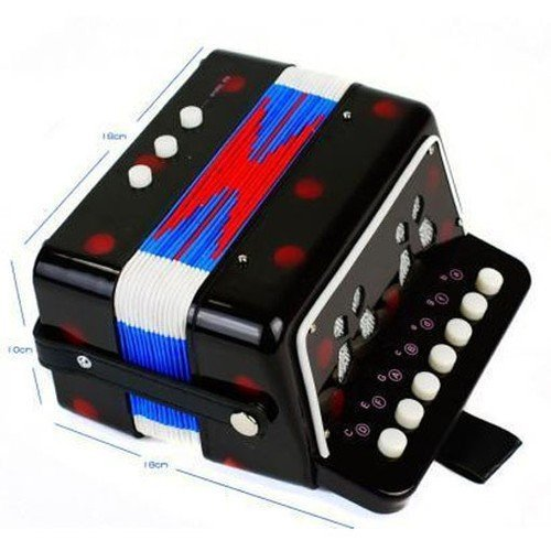 New Kids Instrument Music Accordion Button Piano Toys Great Gift Kids Black