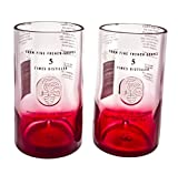 Ciroc Red Berry Vodka Reclaimed Bottles Glassware Drinkware Barware Tumbler Glasses Gift Set