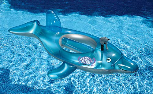 Swimline Dolphins Squirter Pool Float (Inflatable Dolphin Pool)