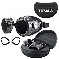 TITUS Welding Safety Goggles with Interchangeable Lenses (High: #9, #11, #14)