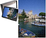 Photo Jigsaw Puzzle of Boats at Sirmione on Lake Garda, Lombardy, Italy, Europe