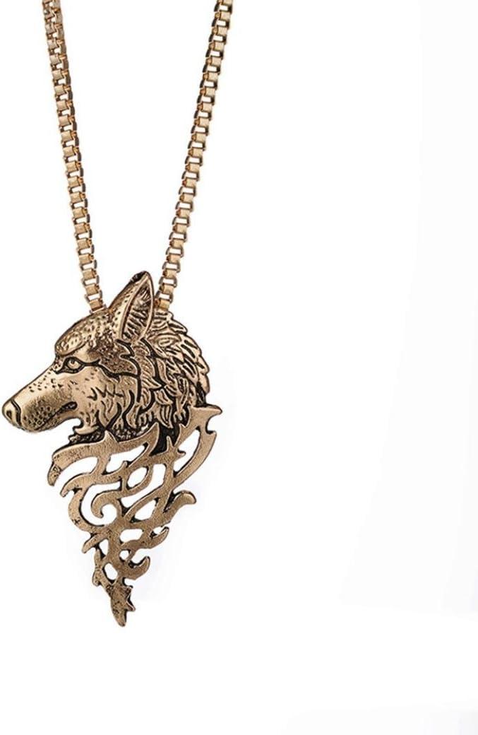 YJYda - Collar con colgante de aleación en forma de lobo: Amazon ...