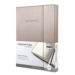Sigel CO628 Notebook CONCEPTUM, Rose Gold metallic, Hardcover, lined, approx. A5, with numerous features