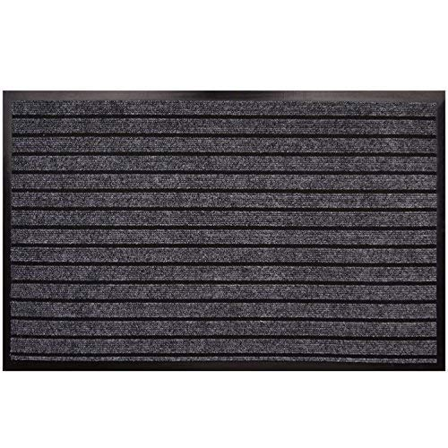 Goodxin XX1-3 Indoor Outdoor Mats Rubber Entrance Doormat Dirt Debris Mud Trapper Waterproof Out Door Mat Low Profile Washable Carpet (31.5