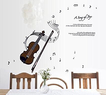 Halloween Stickers Aesthetic.Amazon Com Aesthetic Dining Bedroom Violin Move Wall