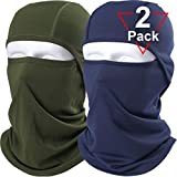 AXBXCX 2 Pack Balaclava - Breathable Face Mask Windproof Dust Sun UV Protection Motorcycle Cycling Motocross Riding Hunting Hiking Fishing Ski Snowboard Tactical Paintball Airsoft Green Blue