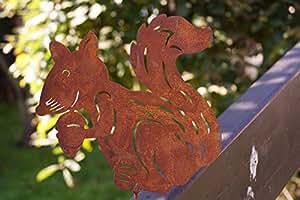 oxidado Ardilla 15cm con Rosca para madera Incluso gestaltung Jardín