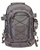 Tactical Backpack - 40L Outdoor Expandable Tactical Backpack Military Sport Camping Hiking Trekking GYM Bag (08001A Grey)
