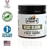 Turmeric Red Sandalwood Herbal Cleansing Face Mask DIY Powder (Just Add Milk) Clears Pores Brightens Skin (Natural Ayurvedic Organic Anti-Aging Secret Indian Clay Facial Mask)