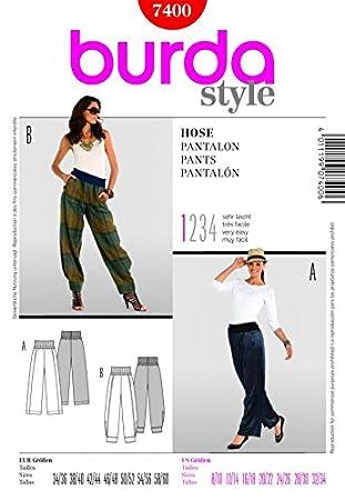 Facile Patron Femme Couture 34 Tailles De Burda 8 7400 Sarouel OkXZTiPu