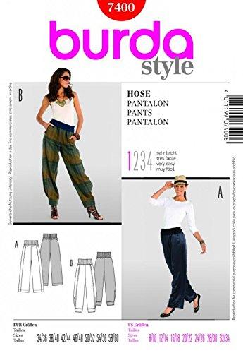 Burda Ladies Easy Sewing Pattern 7400 - Harem Pants Sizes: 8-34 ...