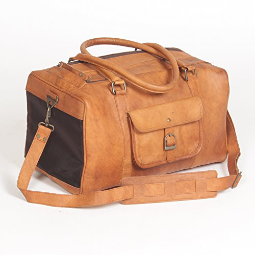 Pet Deluxe Travel Carrier – Genuine Tan Leather