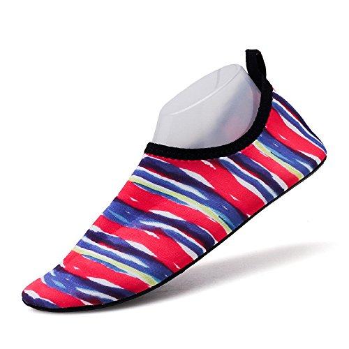 piel luz Zapatos zapatos de de natación SK12 Lucdespo pegada y rápido calzado zapatos natación amantes banda secado pies la playa descalzos wCWxq0X0Tg