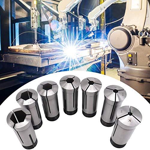 Coaste 7Pcs 5C Collet Stop Set, Collet Chuck for Hardinge Lathes Chuckers Mills CNC, Engraving Machine & Milling Lathe Tool (Hardinge Lathe Cnc)
