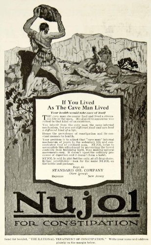 1917-ad-nujol-constipation-medication-standard-oil-company-new-jersey-cave-man-original-print-ad
