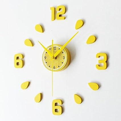Amazon.com: CLOCK Wall Diy Fun Wall Decorations Lemon 3D Wall ...