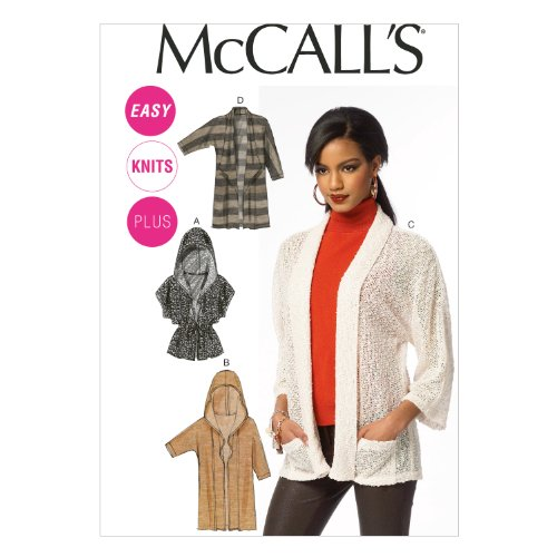 McCall Pattern Company M6802 Misses'/Women's Cardigans Sewing Template, Size RR (18W-20W-22W-24W) (Cardigan Sewing Patterns)
