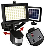 Ntsevsun 80 LED Outdoor Solar Motion Sensor Light, Digitally Adjustable TIME and LUX with Button, 180 Degrees Detection Range (Natural White) Review