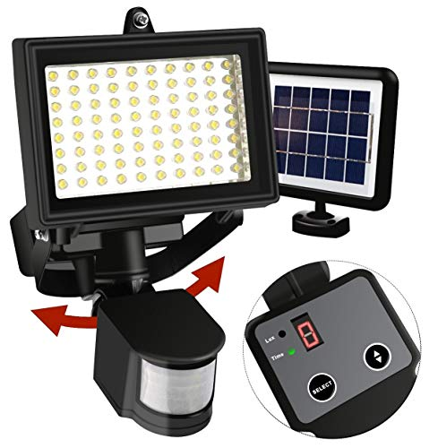 Aluminum 80 Led Solar Motion Detector Light