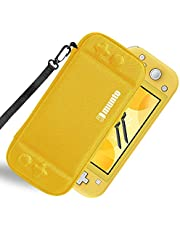 Munto Slim Carrying Case for Nintendo Switch Lite, Portable Hard Shell Protective Storage Pouch with 8 Game Cartridges Yellow
