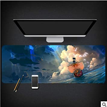 GCSQU Mouse Pad One Piece Anime Around Luffy Sauron Mouse Pad Dormitory Two Yuan Super Large Computer Super Thick Table Mouse Pad,30X80X0.3Cm