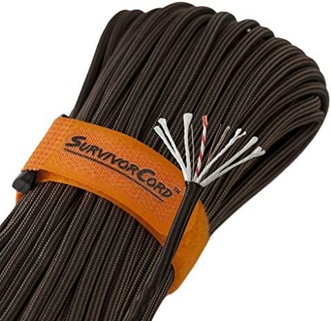 620 LB SurvivorCord | The Original Patented Military Type III 550 Paracord/Parachute Cord (3/16