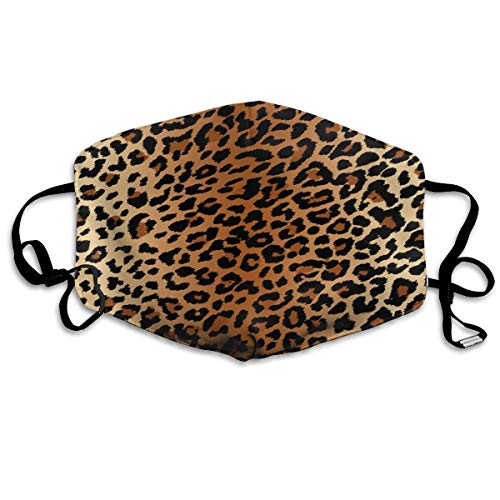 Dust Mask Sexy Leopard Print Fashion Anti-dust Reusable Cotton Comfy Breathable Safety Mouth Masks Half Face Mask for Women Man Running Cycling Outdoor