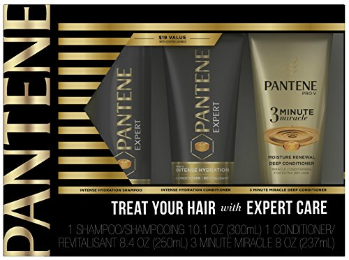 Deep Quench Conditioning Treatment (Pantene Expert Intense Hydration Shampoo and Conditioner with 3 Minute Miracle Moisture Renewal Set)