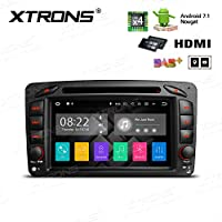 XTRONS HDMI Android 7.1 Quad Core 7 Inch HD Digital Touch Screen Car Stereo Radio DVD Player GPS for Mercedes Benz C/GClass W203 W463