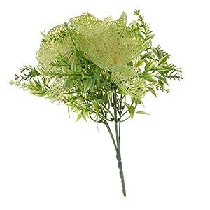Homyl Bunch Artificial Plants Seaweed Garden Wedding Decor Phalaenopsis/Vine/ Persian Grass/Perilla Leaves/Staghorn Fern/Sago Cycas Leaves/Air Grass 9