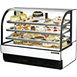 True TCGR-59 - 59†Refrigerated Curved Glass Displ