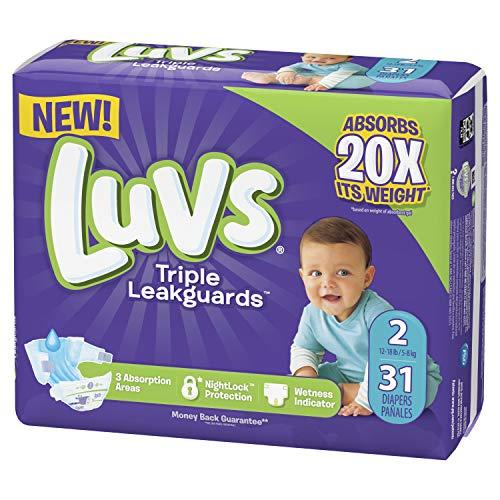 Luvs Luvs Triple leakguards Diapers Size 2 31 Count, 31 Count