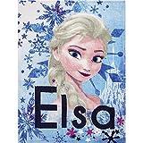 Disney Frozen Elsa Anna Princess Girls Fleece Blanket 90 X 120 cm (Blue)